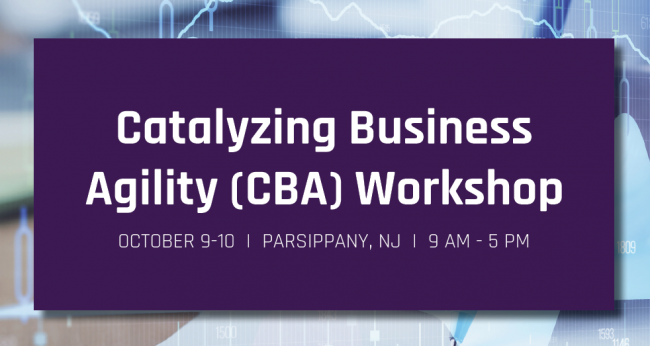 Catalyzing Business Agility (CBA) 2 Day Workshop